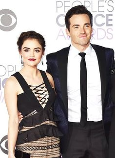 Ian Harding and Lucy Hale PCA 2016