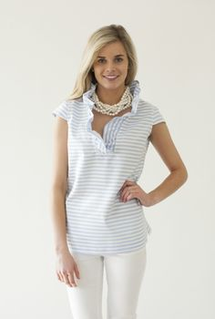 Shop Devon Baer - love this shirt and necklace combo!