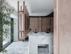 12 Micron Restaurant in Barangaroo by SJB Interiors World Festival, Festival 2017, Sydney Restaurants, Pink Furniture, Interior Design Awards, Interior Ideas, Soft Seating, Contemporary Interior Design, Contemporary Apartment