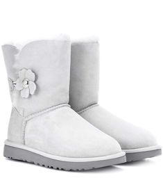 UGG Bailey Button Poppy suede ankle boots. #ugg #shoes #