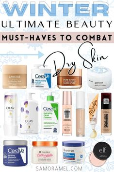 Dry skin? No problem. I got you covered with all of my beauty favorites that will keep dry skin at bay this upcoming winter!! #dryskin #winterbeauty