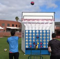 Basketball Connect This looks like a fun take on the classic game. Diy Yard Games, Diy Games, Backyard Games, Outdoor Games For Kids, Indoor Games, Indoor Activities, Summer Activities, Outdoor Fun, Family Activities