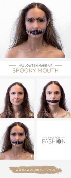 Scary Halloween-Make-up schminken | Zwei gesichter, Ihr zwei und ...