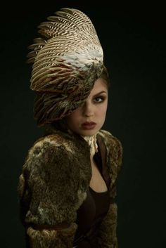 The Jess Eaton Roadkill Couture Line is Made from Dead Animal Remains #feathers #fashion trendhunter.com