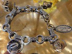 SOLD VINTAGE WWII ERA Germany Eloxal Aluminum Grossglockner Souvenir Charm Bracelet