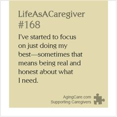 How honest are you about your needs?    Discover how being honest can help beat caregiver burnout: http://www.agingcare.com/150595 #LifeAsACaregiver