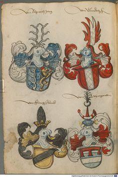 Wappen deutscher Geschlechter Augsburg ?, 4. Viertel 15. Jh. Cod.icon. 311  Folio 18v