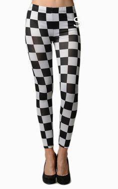 Black & White Checkered Leggings