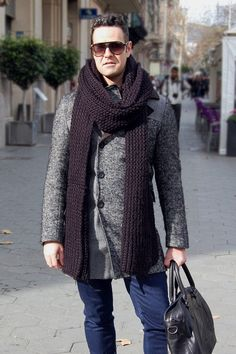 Street style of a city man
