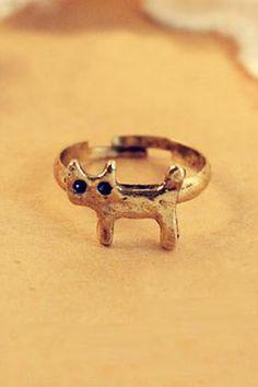 Little Cat Copper Ring #Romwe #cat