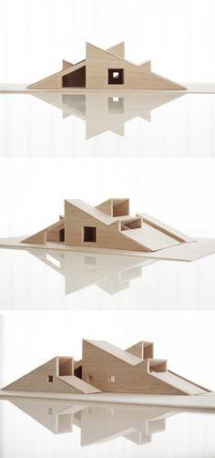 Cabin Vindheim est un chalet contemporain réalisé par les architectes du studio Vardehaugen, basé à Oslo. Toit en pente se prolongeant au sol --> skier dessus