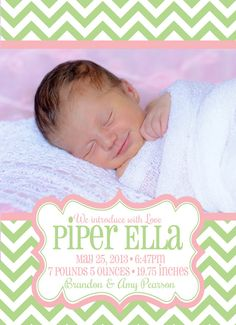 Pretty as a Picture Birth Announcement  by PaisleyPearInvites, $1.50