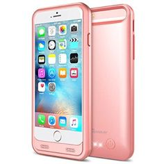 c4656c923ca Amazon.com: iPhone 6S Battery Case - iPhone 6 Battery Case, Trianium Atomic  S iPhone 6 6S Portable Charger Charging Case [Rose Gold]-3100mAh Battery  Pack ...