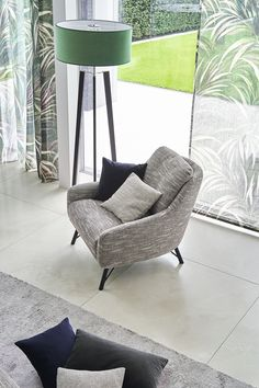 POLAR the upholstery collection from JAB with high percentages of wool in fashionable shades of grey,to give any piece of furniture elegance & character. Feel & experience it! Interior Styling, Interior Decorating, Interior Design, Living Style, Polaroid, Shades Of Grey, Wool, Chair, Elegant