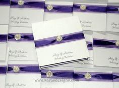 cadbury purple wedding invite by Karasdesigns, via Flickr