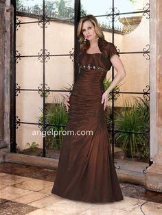 2015 Style Trumpet/Mermaid Strapless Floor-length Taffeta Mother of the Bride Dresses