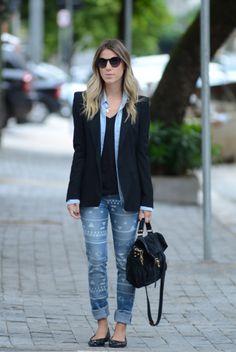 glam4you - nati vozza - look - calca - jeans - blazer  - etnico