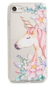 Milkyway Unicorn & Flowers iPhone 7 Case #iphone7case, #UnicornPillow