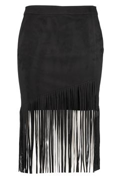 Black skirt with fringe | Suedine | Fashion | Plussize fashion | Zwarte rok | Imitatie suède rok met lange franjes.