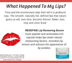 Are your lips ready for Valentines Day? Restore dry/chapped/cracked lips with Rodan + Fields Lip Serum. It keeps lips hydrated & smooth & has rid me of my chapstick addiction. Bonus anti aging properties reduce fine lines, restore color, & give a full plump lip again! Order yours now and for kissable lips by V-Day. Visit my online store or message me to get 10% off + free shipping. larmockRF@gmail.com, 989-278-9676. -Leah Armock, Rodan + Fields Consultant
