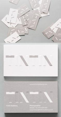 Subtle Embossed Letterpress Business Card For A Photographer