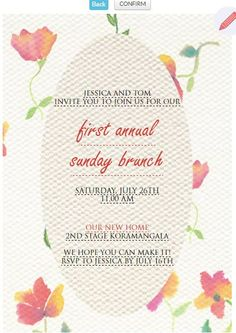 The 9 best wedding anniversary invitation cards images on pinterest send your first annual invitation card httpsgrouptable stopboris Gallery