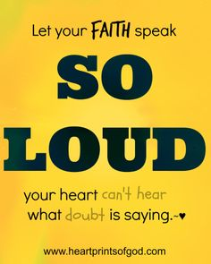 "Heartprints of God:  A ""SO LOUD"" FAITH~<3 www.facebook.com/heartprintsofgod"