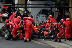 Marussia F1 Team pitstop action - 2012 Brazilian GP