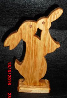Wood Toys Decorative bunny mother with child, height about Small Woodworking Projects, Diy Wood Projects, Wood Crafts, Diy And Crafts, Arts And Crafts, Wood Carving Patterns, Wood Patterns, Easter Crafts, Christmas Crafts