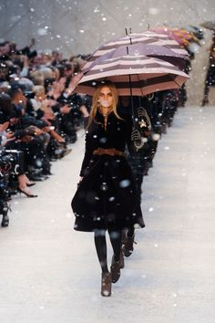 Again, umbrellas...oh, and that girl // Burberry Prorsum FW12