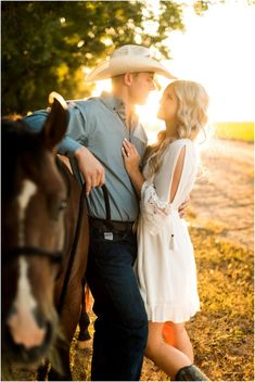 Pecan Orchard Engagement Session with Horses during Sunset Golden Hour in Coolidge, Arizona.