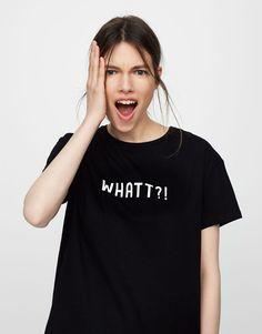 Camiseta texto - Novedades - Mujer - PULL&BEAR España
