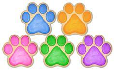 ASPCA Fundraising Paw Print cookies 1 dozen by CookiesByTheresa, $45.00