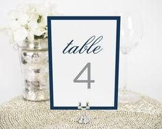 Sophisticated Modern Table Numbers