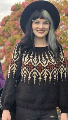 Fair Isle Knitting Patterns, Sweater Knitting Patterns, Knitting Designs, Icelandic Sweaters, Knitwear Fashion, How To Purl Knit, Nordic Sweater, Sweaters For Women, Crochet