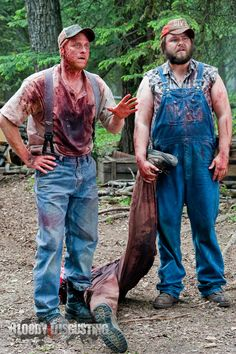 """Tucker & Dale vs Evil """"I was just standing there, minding my own business when he just jumped into my wood-chipper."""""""