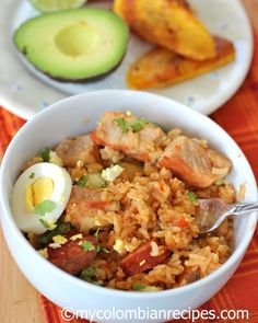 "Arroz Atollado: This is a typical rice and pork dish from the Colombian region "" Valle del Cauca"". It's perfect to feed a crowd. Colombian Dishes, My Colombian Recipes, Colombian Cuisine, Pork Recipes, Mexican Food Recipes, Cooking Recipes, Healthy Recipes, Ethnic Recipes, Rice Recipes"
