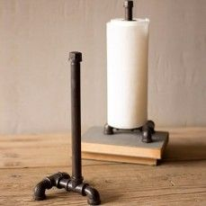 Pipe Paper Towel Holder | Cast Iron Paper Towel Holder I think that this would be easy to make