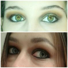 Smoky eye night make up