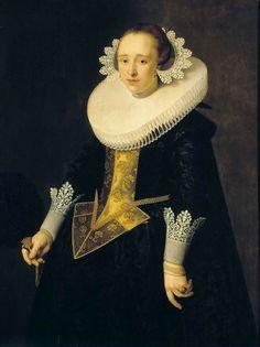 Nicolaes Eliasz. Pickenoy - Portret van een 22-jarige vrouw