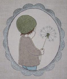 Junge mit Pustblume