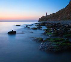 Mistlike waters | water, sea light, sea, cliff