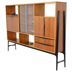 Wide Bar Cabinet by Alfred Hendrickx for Belform, ca.1958 | From a unique collection of antique and modern cabinets at https://www.1stdibs.com/furniture/storage-case-pieces/cabinets/
