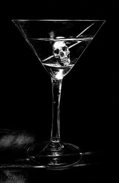 affairemortal:    Skull Cocktail by Mark Owen, comissioned for the short story Death Is Not Enough by Bob Statzer, for Scary Monsters Magazine #77, 2010.
