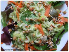 Avocado salad:  http://www.healthextremist.com/avocado-salad-recipe-and-avocado-salad-dressing/
