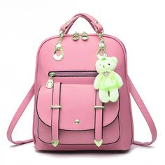 46.53$  Buy here - http://ali51y.worldwells.pw/go.php?t=32771234191 - Hot Sale Gorgeous Solid Back Pack Bag High Quality PU Leather European and American Style Preppey School Backpack Free Shipping 46.53$