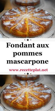 Fondant aux pommes et mascarpone avec thermomix - Best Pins France Easy Cake Recipes, Apple Recipes, Sweet Recipes, Dessert Recipes, Desserts Thermomix, Passover Desserts, Grilled Desserts, Desserts With Biscuits, Cinnamon Desserts