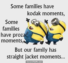 Here we have 25 of the best minion quotes about family. Some of these are hysterical while others are more sentimental. We have the perfect family minion quotes for every family. Humor Minion, Minions Quotes, Minion Sayings, Funny Minion Pictures, Minions Love, Purple Minions, Crazy Friends, True Friends, Love My Family