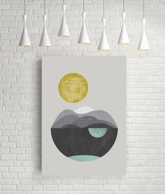 Dunes, giclee art print, abstract art, watercolour print, geometric art, minimalist print, scandinavian art, geometric print, giclee print by FLATOWL on Etsy https://www.etsy.com/listing/245914410/dunes-giclee-art-print-abstract-art