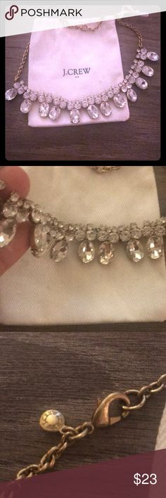 Add a little sparkle! No stones missing, worn once. Dust bag included J. Crew Factory Jewelry Necklaces